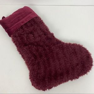 Pottery Barn FAUX FUR KNIT Stocking